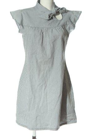 Fenchurch Abito a maniche corte bianco-grigio chiaro motivo a righe stile casual