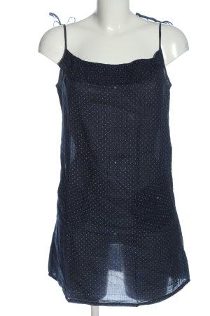 Fenchurch Top lungo blu-bianco motivo a pallini stile casual