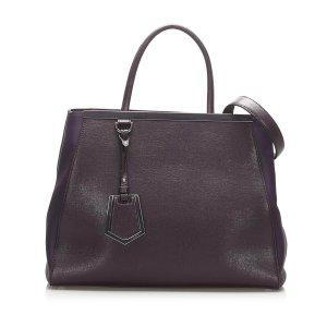 Fendi 2Jours Leather Satchel