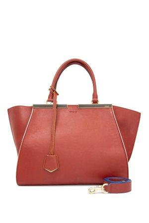 Fendi Satchel red leather