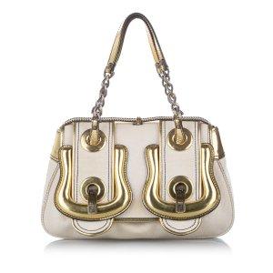 Fendi B. Bag Canvas Handbag