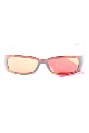 Fendi Glasses brown-natural white printed lettering casual look