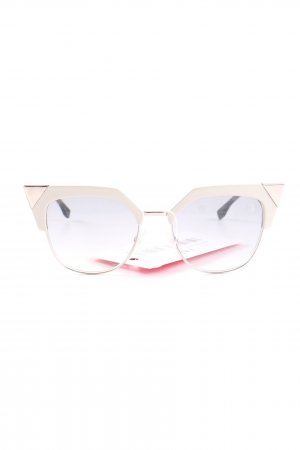 Fendi Butterfly Brille weiß-goldfarben Casual-Look