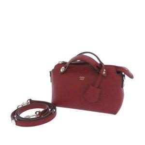 Fendi Sacoche rouge cuir