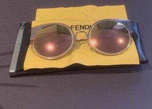 Fendi Gafas de sol redondas color rosa dorado