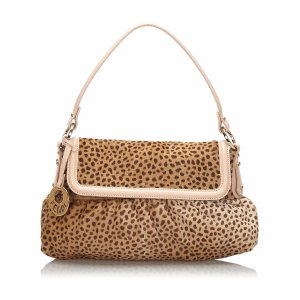 Fendi Cheetah Print Pony Hair Chef Baguette