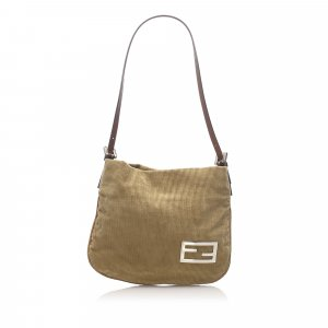 Fendi Corduroy Shoulder Bag