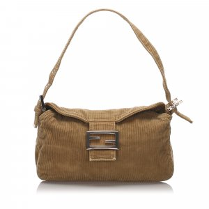 Fendi Corduroy Shoulder Bag