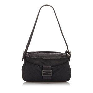 Fendi Shoulder Bag dark grey cotton