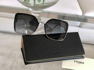 Fendi Gafas de sol cuadradas gris-color plata