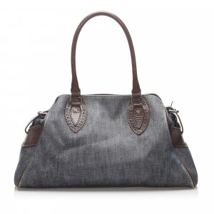 Fendi Denim Etniko Shoulder Bag