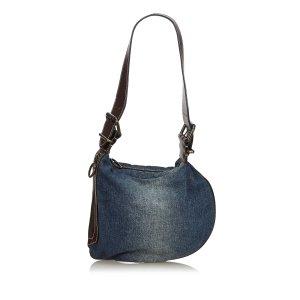 Fendi Denim Oyster Shoulder Bag