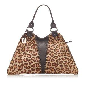 Fendi Diavolo Trapezio Pony Hair Handbag