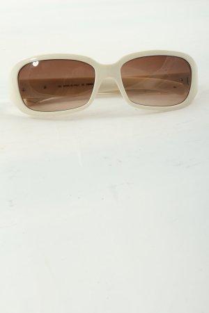 Fendi eckige Sonnenbrille weiß Casual-Look