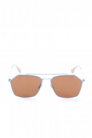 Fendi Occhiale da sole spigoloso blu-marrone stile casual