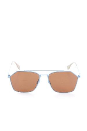 Fendi Angular Shaped Sunglasses blue-brown casual look