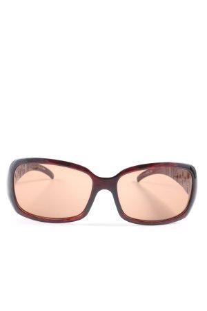Fendi eckige Sonnenbrille schwarz-braun Casual-Look