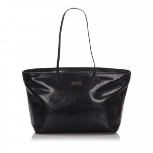 Fendi Embossed Leather Tote Bag