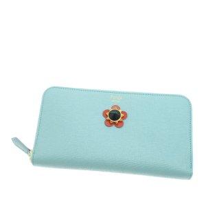 Fendi Flowerland Leather Zip Wallet