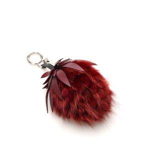 Fendi Key Chain red fur