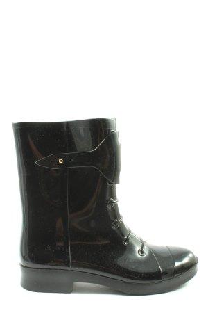 Fendi Wellington laarzen zwart casual uitstraling