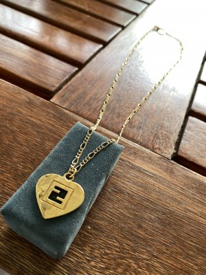 FENDI Heart-Pendant (reworked into Necklace)