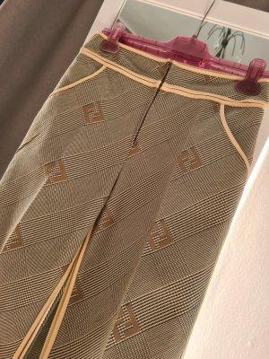 Fendi Pantalone jersey marrone chiaro-crema