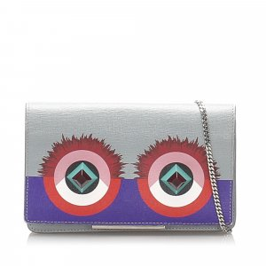 Fendi Hypnoteyes Leather Wallet on Chain