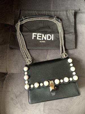 Fendi Kan I Small Shoulder Bag Nero Palladio