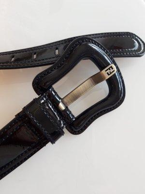 Fendi Cinturón de cuero negro