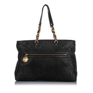 Fendi Lame Leather Shoulder Bag