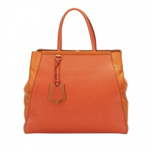 Fendi Large 2Jours Leather Handbag