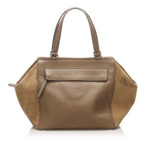 Fendi Leather Boxy Tote Bag