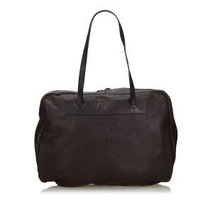 Fendi borsa ventiquattrore marrone scuro Pelle