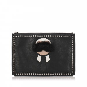 Fendi Leather Karlito Clutch Bag