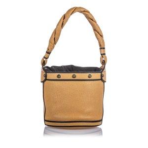 Fendi Leather Palazzo Bucket Bag