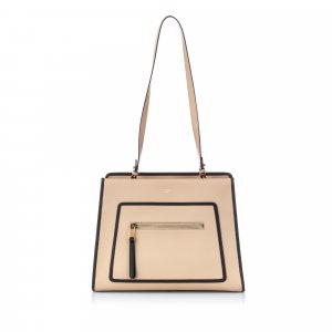 Fendi Leather Runaway Shopper