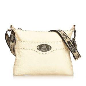 Fendi Leather Selleria Crossbody Bag