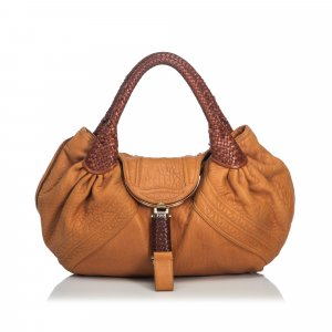 Fendi Hobos brown leather