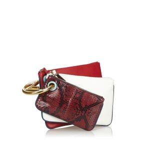 Fendi Leather Triplette Clutch Bag