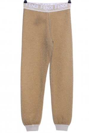 Fendi Leggings braun meliert Glanz-Optik
