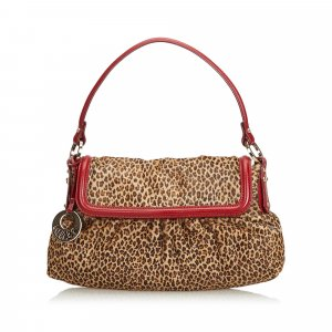 Fendi Leopard Print Pony Hair Chef Handbag