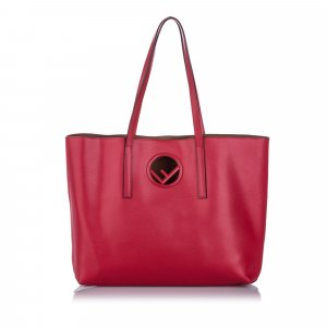 Fendi Logo Shopper Tote Bag
