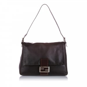 Fendi Mamma Forever Leather Shoulder Bag