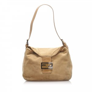 Fendi Mamma Forever Suede Shoulder Bag