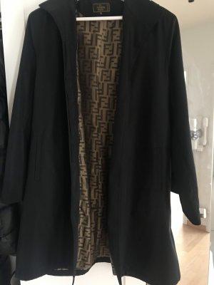 Fendi Giacca con cappuccio nero-color cammello