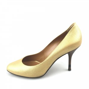 Fendi Metallic Leather Pump