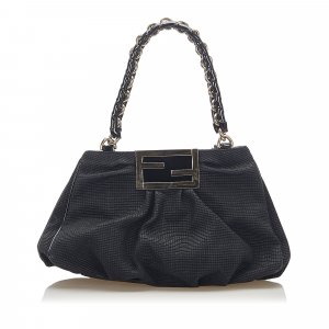Fendi Mia Canvas Shoulder Bag