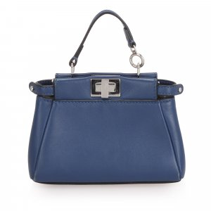 Fendi Micro Peekaboo Leather Crossbody Bag