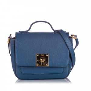 Fendi Mini Borsa Leather Crossbody Bag